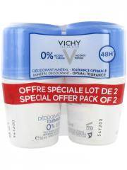 Vichy Déodorant Minéral 48H Tolérance Optimale Roll-On Lot de 2 x 50 ml - Lot 2 x 50 ml