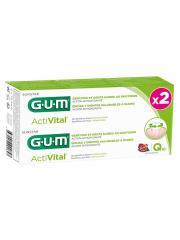 GUM Activital Dentifrice Q10 Lot de 2 x 75 ml - Boîte 2 tubes de 75 ml