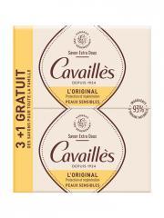 Rogé Cavaillès Savon Surgras Extra-Doux Lot de 3 x 250 g + 1 Gratuit - Lot 4 savons de 250 g