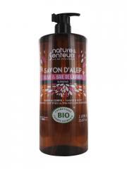 Nature & Senteurs Savon d'Alep Olive et Baie de Laurier Surgras Bio 1 L - Flacon-Pompe 1000 ml