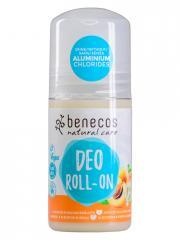 Benecos Deo Roll-On Abricot et Fleur de Sureau 50 ml - Flacon-Bille 50 ml