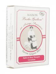 Maison Berthe Guilhem Savon Surgras Bio Huile de Rose Musquée Géranium 100 g - Boîte 100 g