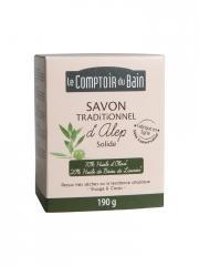 Le Comptoir du Bain Savon Traditionnel d'Alep Solide 190 g - Pain 190 g