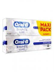 Oral-B 3D White Luxe Perfection Lot de 2 x 75 ml - Lot 2 x 75 ml