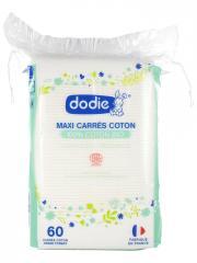 Dodie Maxi Carrés Coton Bio 60 Carrés - Sachet 60 carrés