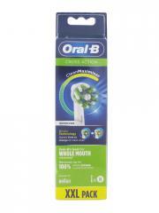 Oral-B Cross Action 8 Brossettes XXL Pack - Boîte plastique 8 brossettes