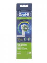 Oral-B Cross Action 3 Brossettes - Boîte plastique 3 Brossettes