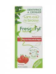 Frescoryl Nature Dentifrice à Croquer Parfum Fraise 10 Comprimés - Plaquette 10 Comprimés