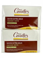 Rogé Cavaillès Savon Surgras Extra-Doux Amande Verte Lot de 3 x 250 g + 1 Gratuit - Lot 4 x 250 g