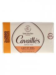 Rogé Cavaillès Savon Extra Doux Lait et Miel Lot de 2 x 250 g - Lot 2 x 250 g