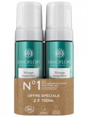 Sanoflore Mousse Magnifica Nettoyante Anti-Imperfections Bio Lot de 2 x 150 ml - Lot 2 x 150 ml