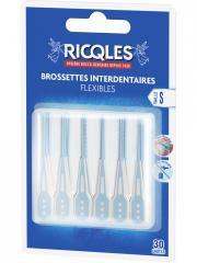 Ricqlès 30 Brossettes Interdentaires Flexibles - Blister 30 brossettes