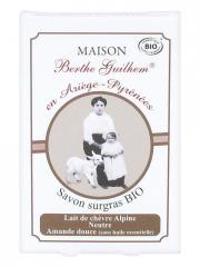 Maison Berthe Guilhem Savon Surgras Lait de Chèvre Alpine Neutre Amande Douce Bio 100 g - Boîte 100 g