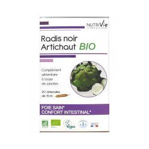 Nutrivie Radis Noir Artichaut Bio 20 Ampoules - Boîte 20 Ampoules de 15 ml - Publicité