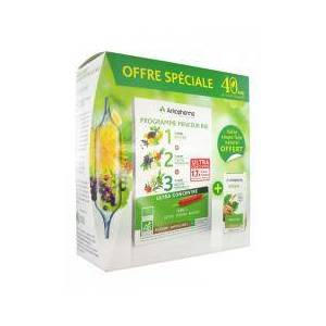 Arkopharma Arkofluides Programme Minceur Bio + Arkogélules Konjac 45 Gélules Offertes - Boîte 30 ampoules de 10 ml + 45 gélules - Publicité