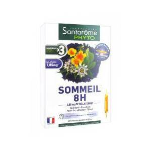 Santarome Phyto Sommeil 8H 20 Ampoules - Boîte 20 Ampoules de 10 ml - Publicité