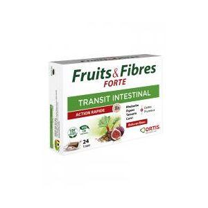 Ortis Fruits & Fibres Forte Transit Intestinal 24 Cubes - Boîte 24 cubes - Publicité