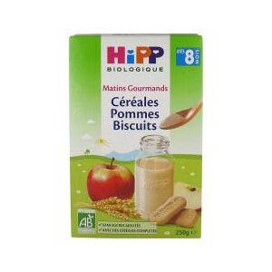 HiPP Matins Gourmands Céréales Pommes Biscuits dès 8 Mois Bio 250 g - Boîte 250 g - Publicité