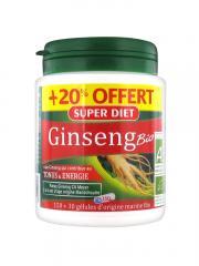Super Diet Ginseng Panax CA Meyer Bio 150 Gélules + 30 Gélules Offertes - Boîte 150 gélules