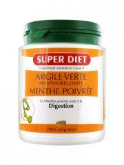 Super Diet Argile Verte Montmorillonite Menthe Poivrée 250 Comprimés - Boîte 250 Comprimés