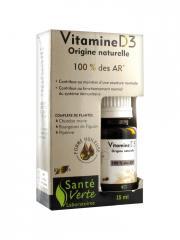 Santé Verte Vitamine D3 15 ml - Flacon 15 ml