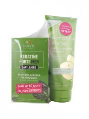 Biocyte Keratine Men Anti-Chute Homme 3 x 40 Gélules + Keratine Forte Shampoing 200 ml Offert - Lot 2 produits