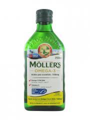 Möller's Omega-3 Huile de Foie de Morue Arôme Citron 250 ml - Bouteille 250 ml