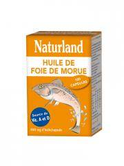 Naturland Huile de Foie de Morue 100 Capsules - Boîte 100 capsules