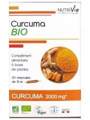 Nutrivie Curcuma Bio 20 Ampoules - Boîte 20 Ampoules de 15 ml