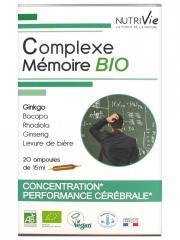 Nutrivie Complexe Mémoire Bio 20 Ampoules - Boîte 20 Ampoules de 15 ml