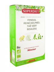 Super Diet Quatuor Thé Vert Minceur Bio 20 Ampoules - Boîte 20 ampoules de 15 ml