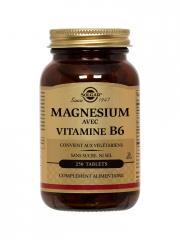 Solgar Magnésium avec Vitamine B6 250 Comprimés - Flacon 250 comprimés