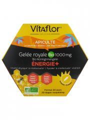 Vitaflor Gelée Royale Bio 1000 mg Energie+ 20 Ampoules - Boîte 20 ampoules x 15 ml