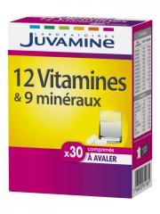 Juvamine 12 Vitamines & 9 Minéraux 30 Comprimés - Boîte 30 Comprimés
