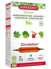 Super Diet Quatuor Vigne Rouge Circulation Bio 20 Ampoules - Boîte 20 ampoules de 15 ml