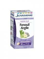 Juvamine Ventre Plat Fenouil Argile 30 Comprimés - Boîte 30 Gélules