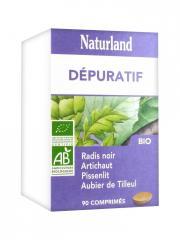 Naturland Complexe Dépuratif Bio 90 Comprimés - Boîte plastique 90 comprimés