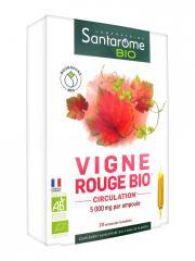 Santarome Bio Vigne Rouge Bio 20 Ampoules - Boîte 20 ampoules