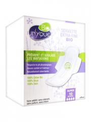 Unyque Bio 10 Serviettes Extra-Fines Super - Boîte 10 serviettes