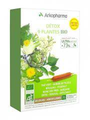 Arkopharma Arkofluides Détox 9 Plantes Bio 20 Ampoules - Boîte 20 Ampoules de 10 ml