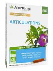 Arkopharma Arkofluides Articulations Bio 20 Ampoules - Boîte 20 Ampoules de 10 ml