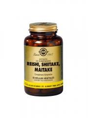Solgar Reishi Shiitake Maitake 50 Gélules Végétales - Flacon 50 gélules