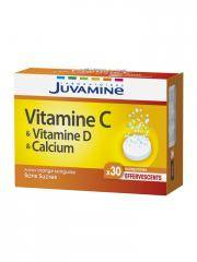 Juvamine Vitamine C Vitamine D Calcium 30 Comprimés Effervescents - Boîte 30 comprimés effervescents