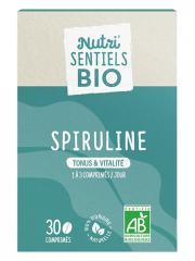 Nutrisanté Nutri'SENTIELS BIO Spiruline Tonus & Vitalité 30 Comprimés - Flacon 30 Comprimés