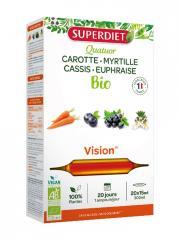 Super Diet Quatuor Euphraise Vision Bio 20 Ampoules - Boîte 20 ampoules de 15 ml