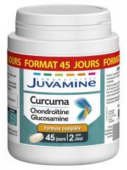 Juvamine Curcuma Chondroïtine Glucosamine 90 Comprimés - Boîte plastique 90 Comprimés