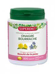 Super Diet Huile d'Onagre - Bourrache 200 Capsules - Boîte plastique 200 capsules