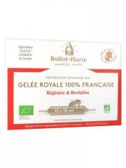 Ballot-Flurin Préparation Dynamisée Bio Gelée Royale 100% Française 10 Ampoules - Boîte 10 ampoules x 10 ml