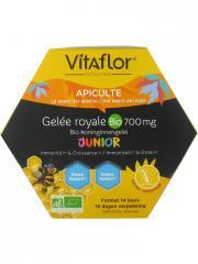 Vitaflor Gelée Royale Bio 700 mg Défense+ Junior 14 Unicadoses - Boîte 14 Unicadoses x 10 ml