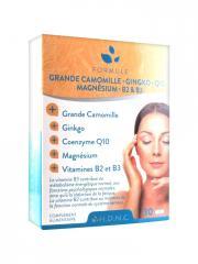 H.D.N.C Grande Camomille Ginkgo Coenzyme Q10 Magnésium Vitamines B2 et B3 30 Comprimés - Boîte 30 comprimés